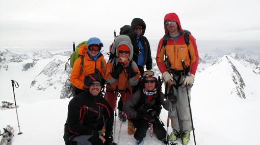 Na vrhu Pigne d'Arolla (3790 m), najvišji točki Visoke poti.