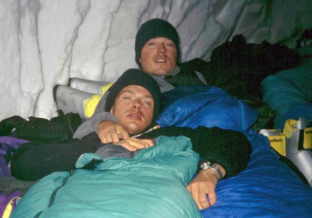 1995 v snežni luknji na Khan Tengriju