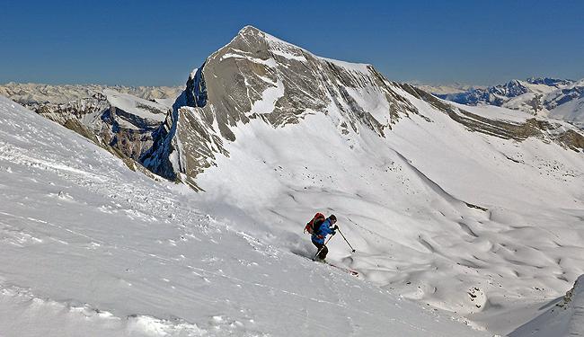 Smučanje s Sass delle Dieci v Dolomitih