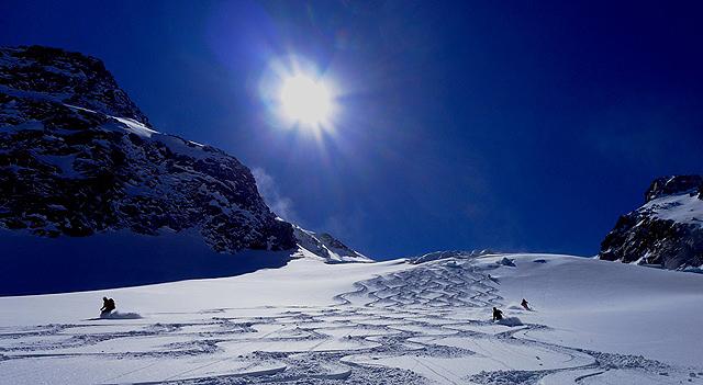 Upam, da nas čaka to sezono čimveč takšnih dni. Ledenik Berglas v stubajskih Alpah.