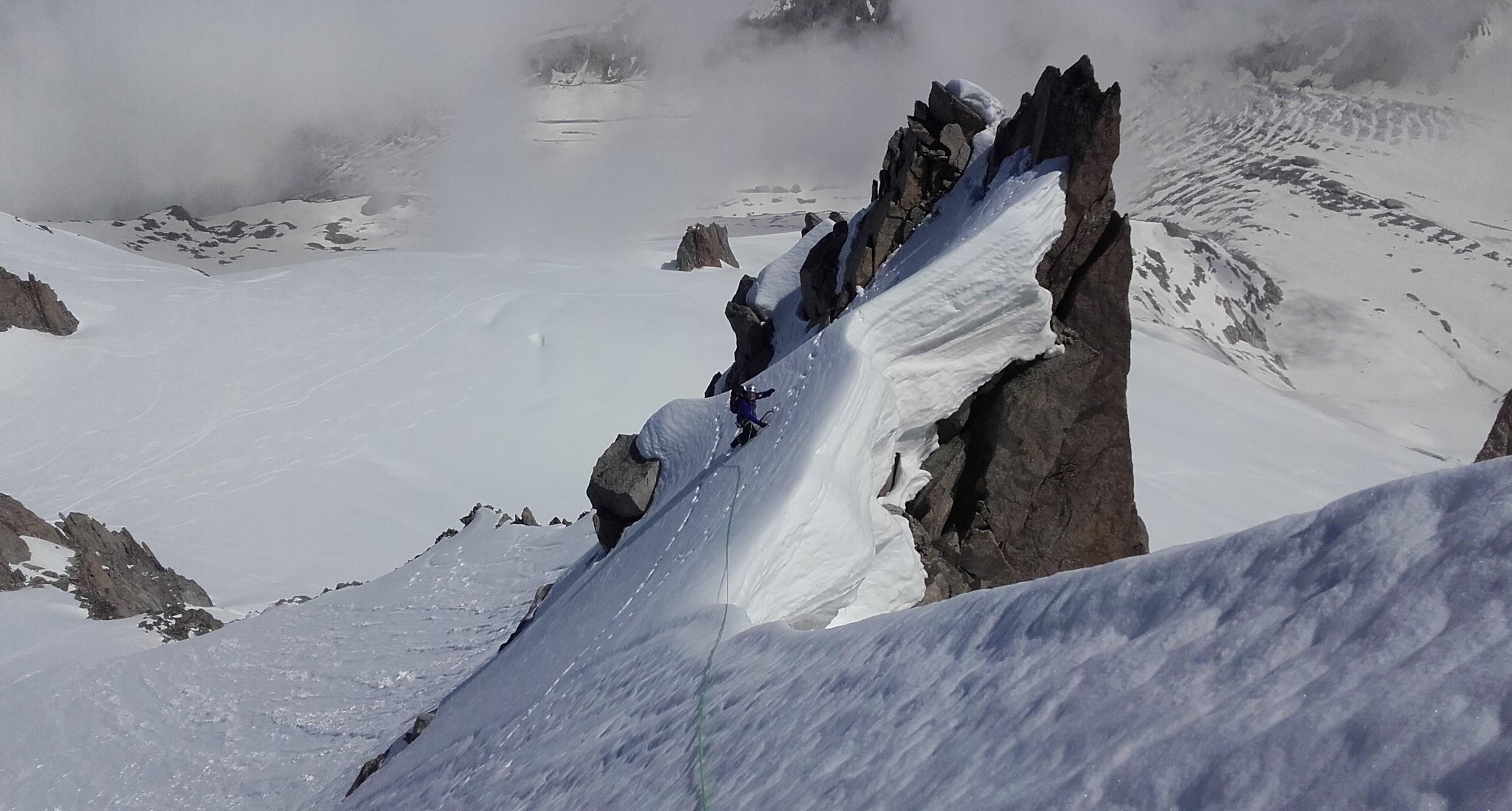 """SV greben """"male velike"""" gore - Petit Verte (3512 m) nad Argentier-om."""