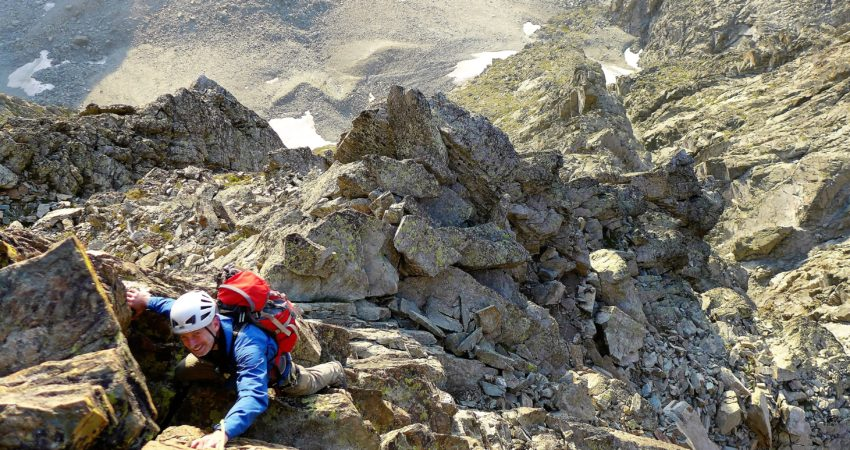 Visoko v vzhodnem grebenu Mont Visa.